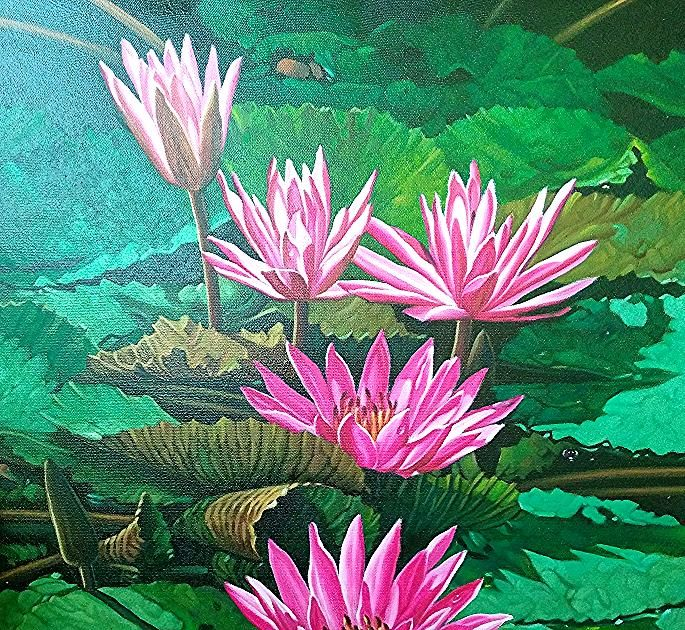 Teratai in 2020 Art, Painting, Plants