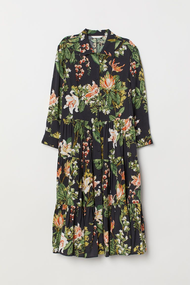 kurzes grünes kleid urwald print rum werbung