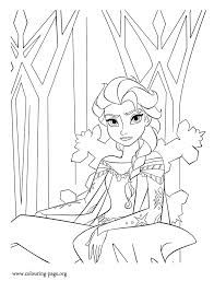 Elsa Runs Away From Arendelle And Exiles Herself In An Ice Castle How About Coloring This Awesome Picture Disney Frozen Movie Pages