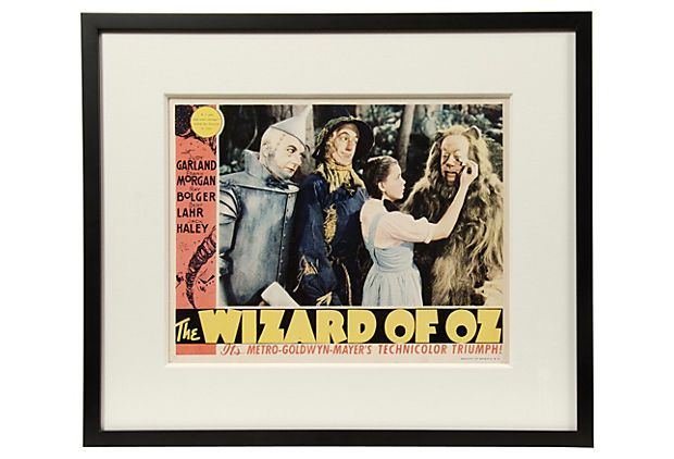 The Wizard of Oz Poster, Black Frame on OneKingsLane.com | WIZARD OF ...