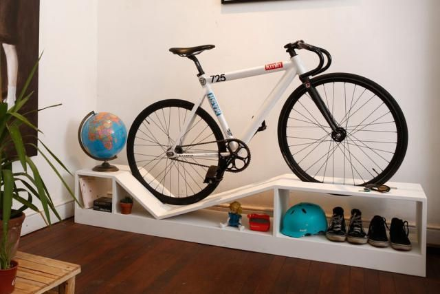 Bike Rack Furniture Is Perfect For Tiny Apartments And Dorm Rooms Now You Can Park Your On