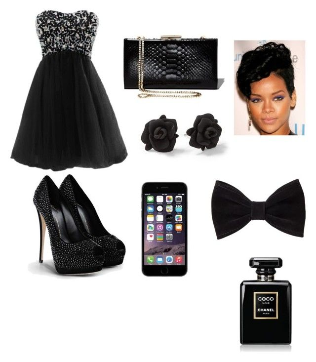 """party time"" by cabblejoyce ❤ liked on Polyvore featuring Giuseppe Zanotti, Salvatore Ferragamo, Marc by Marc Jacobs, Forever 21 and Chanel"