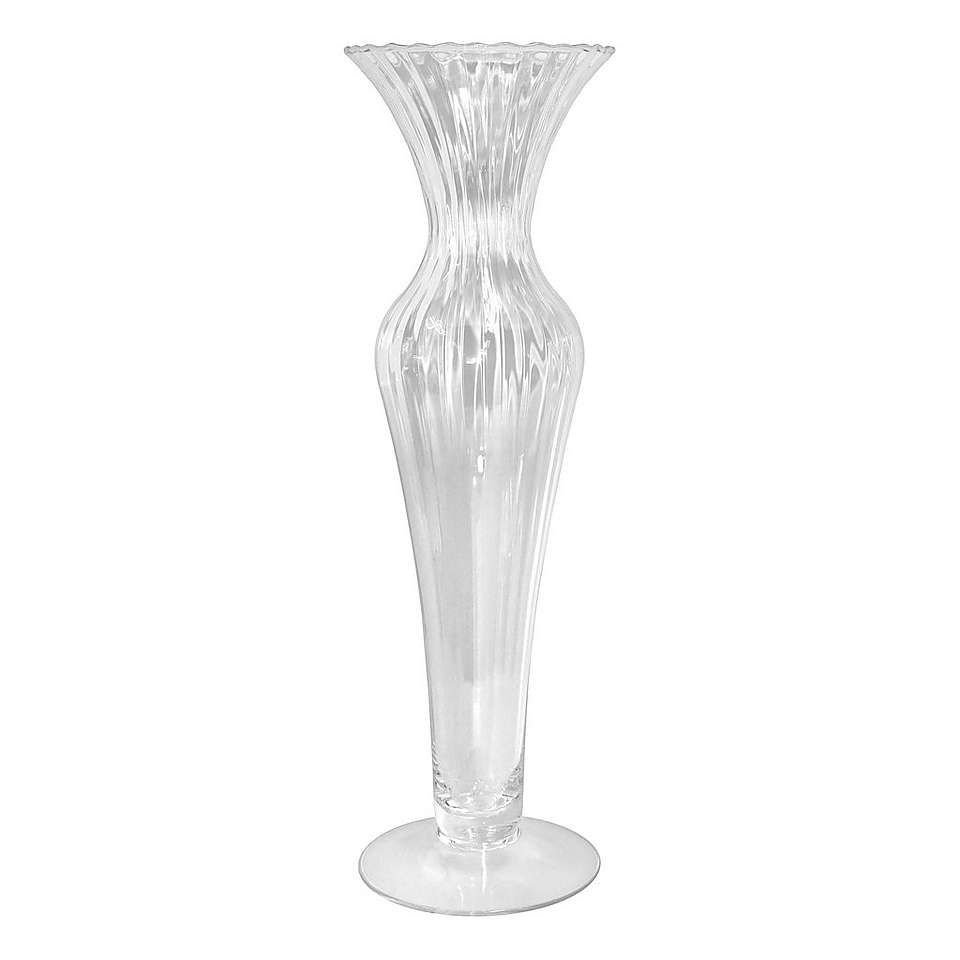 Dorma Optic Vase Vase Clear Vases Glass