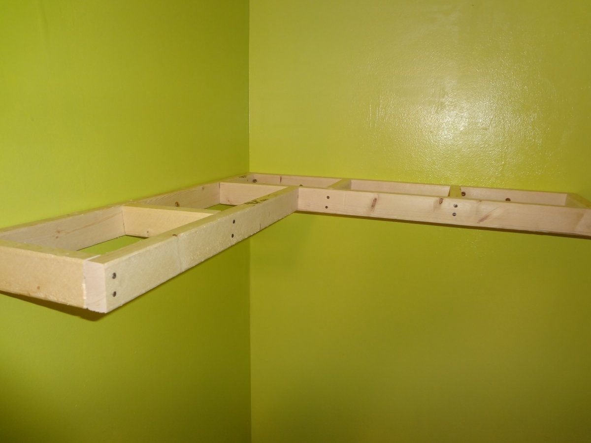 Corner Wall Shelf Ideas | ... Window Green Colored Wall With ...