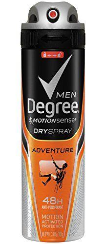 Degree Men Dry Antiperspirant Spray Adventure 3 8 Ounce Trydry