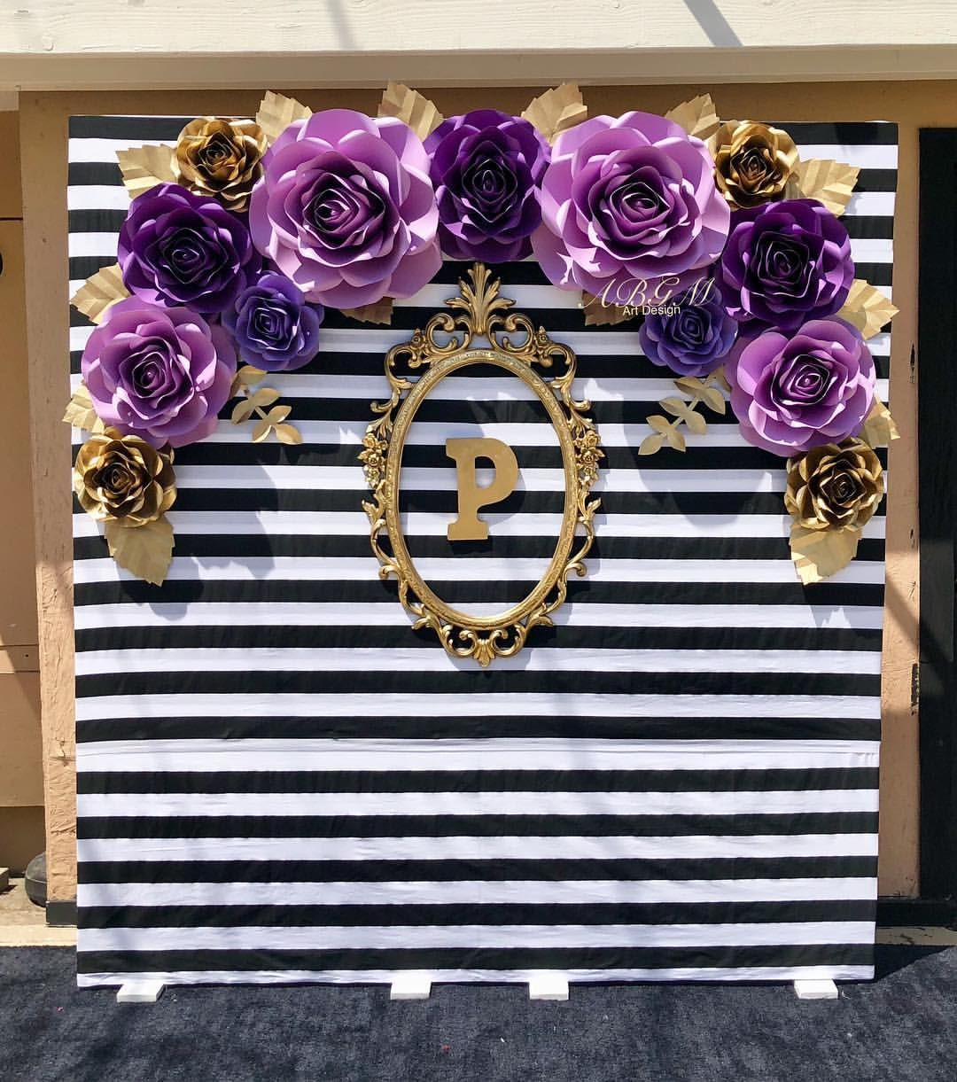 ROSES BACKDROP in different shades of purple colors made for Paula
