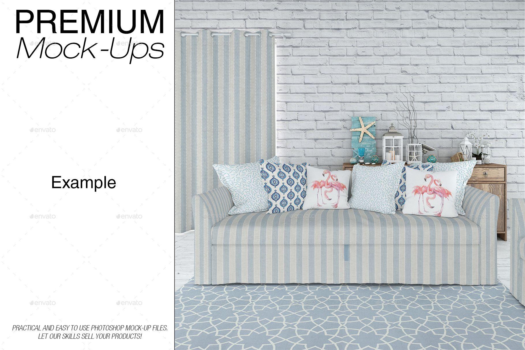 Sofa & Pillows Set - Coastal Style #Pillows, #amp, #Sofa ...