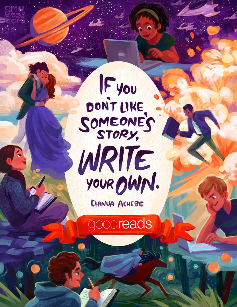 New illustrated quote for goodreads in this months ya