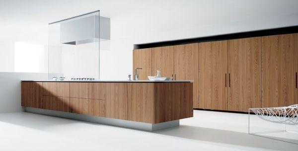 Moderne Küche Kochinsel Design Piqudoca Spanisch Holz Oberfläche