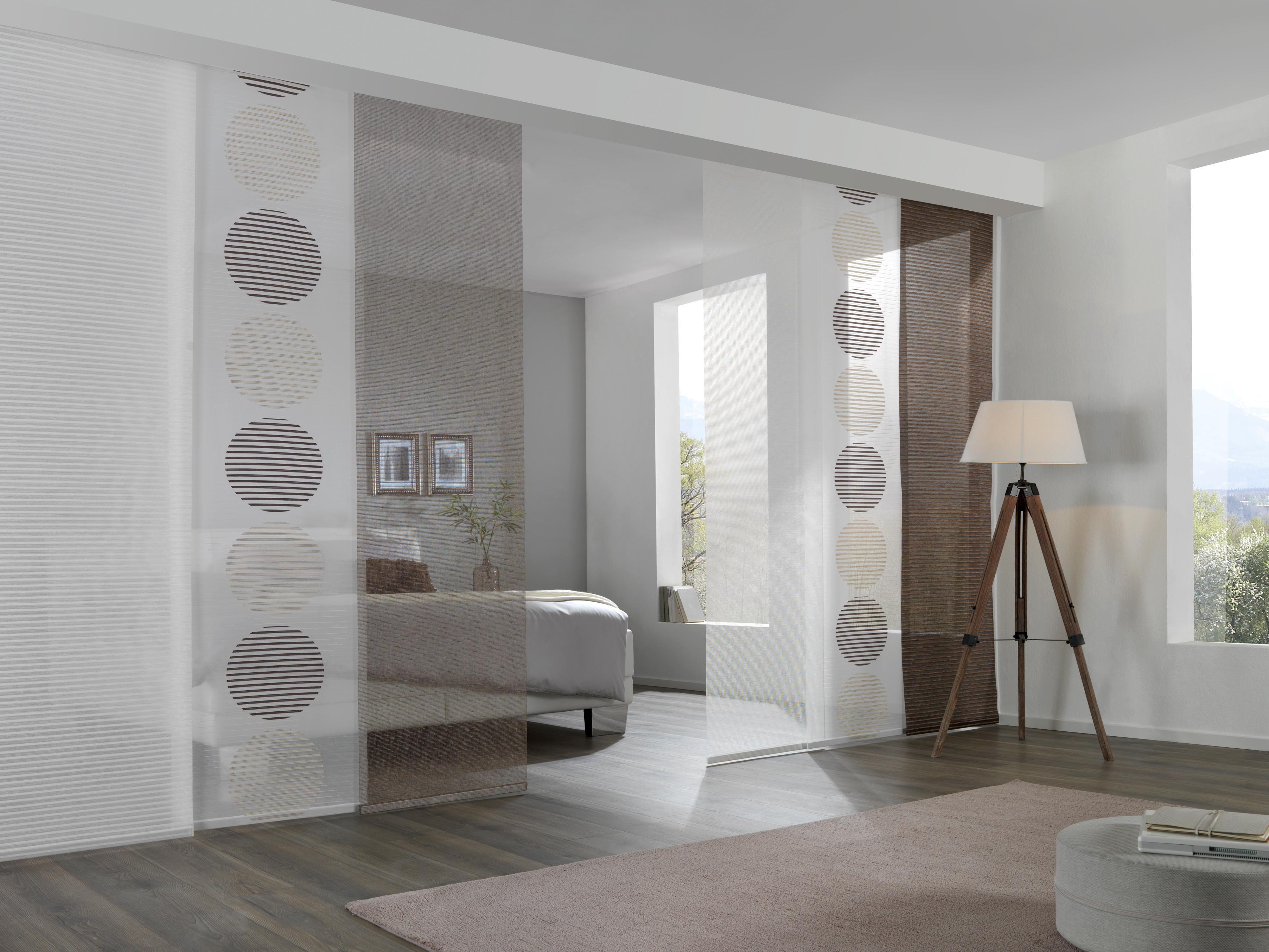 Weißer Flächenvorhang Aus Textil Transparente Eleganz Für