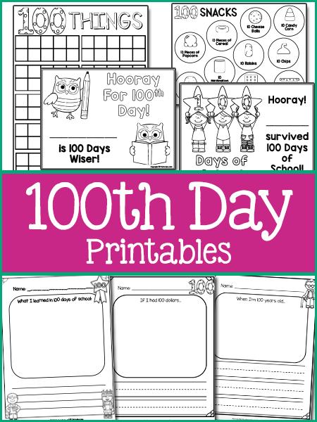 100 Days Of School In Pre K Prekinders 100 Days Of School School Printables 100th Day