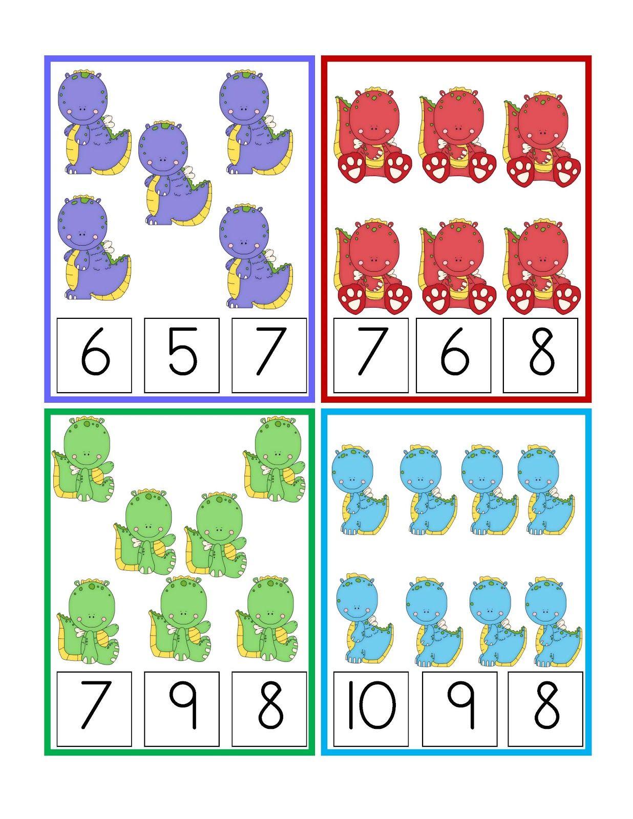 preschool printables dinosaurs printable matem ticas cuenta y cantidad skole klasserom. Black Bedroom Furniture Sets. Home Design Ideas