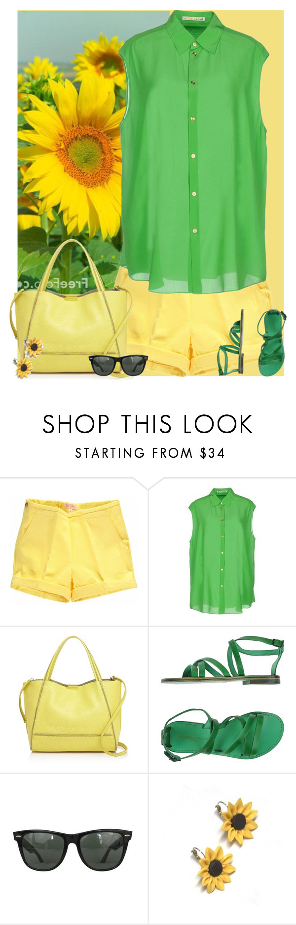 """""""Bez naslova #3024"""" by gita016 ❤ liked on Polyvore featuring Acne Studios, Botkier, L'Artigiano del Cuoio, Ray-Ban and Summer and Silver"""