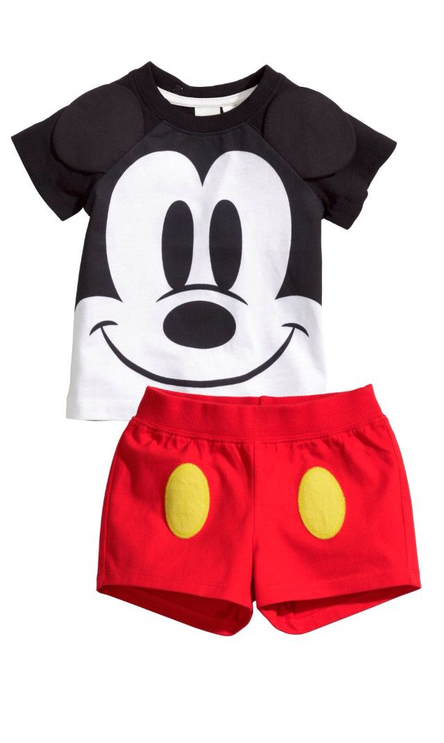 d67e1e921bb1e H&M Mickey Mouse short set | kids wear | Baby kids clothes, Baby ...