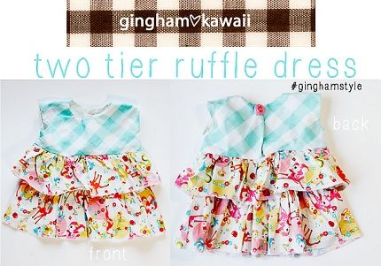 Free pattern: Two tier ruffle dress for baby