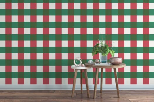 Christmas Buffalo Plaid Red Green Wallpaper Removable Etsy In 2020 Green Wallpaper Traditional Wallpaper Peel And Stick Wallpaper