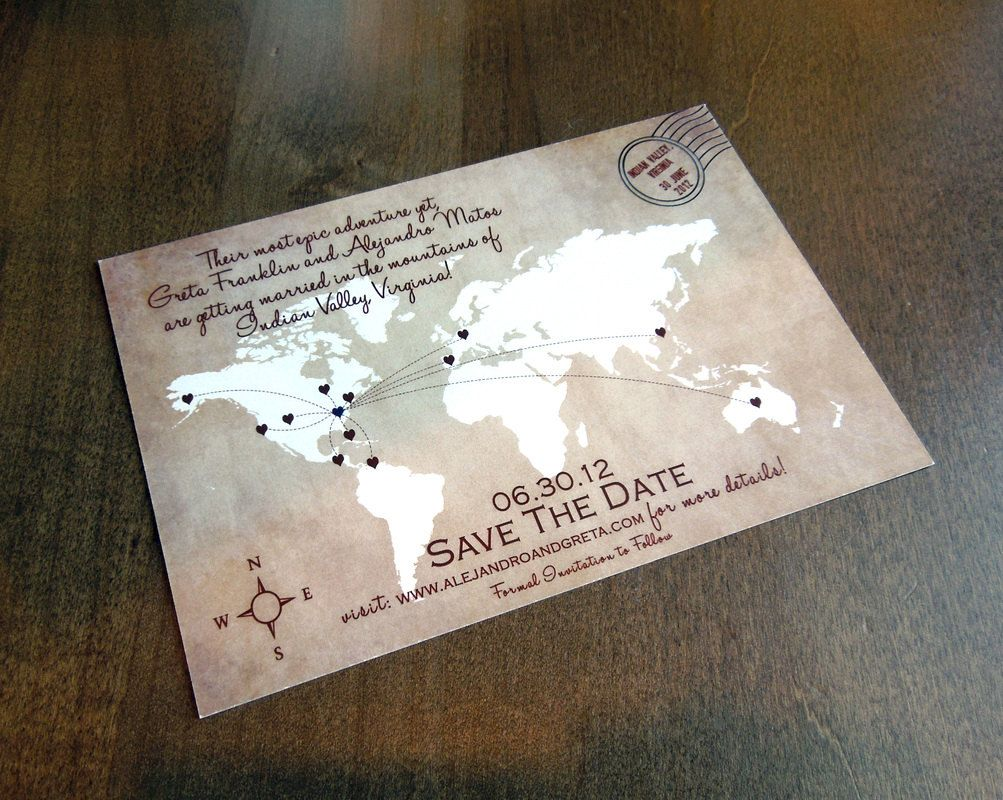 Save the date magnets wedding abroad invitations – Weddings Room