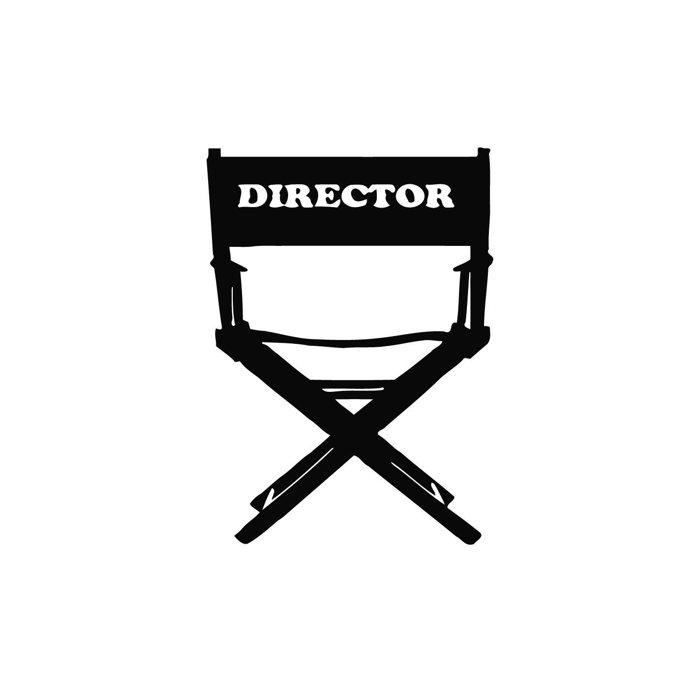 Movie Director Chair Vinyl Wall Art In