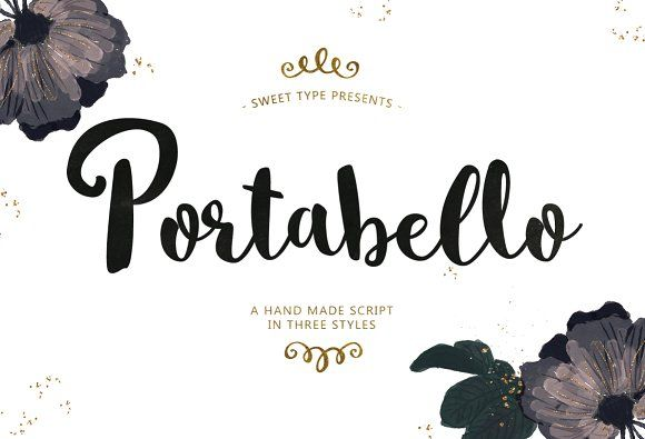 Portabello Script Trio by Emily Spadoni on @creativemarket