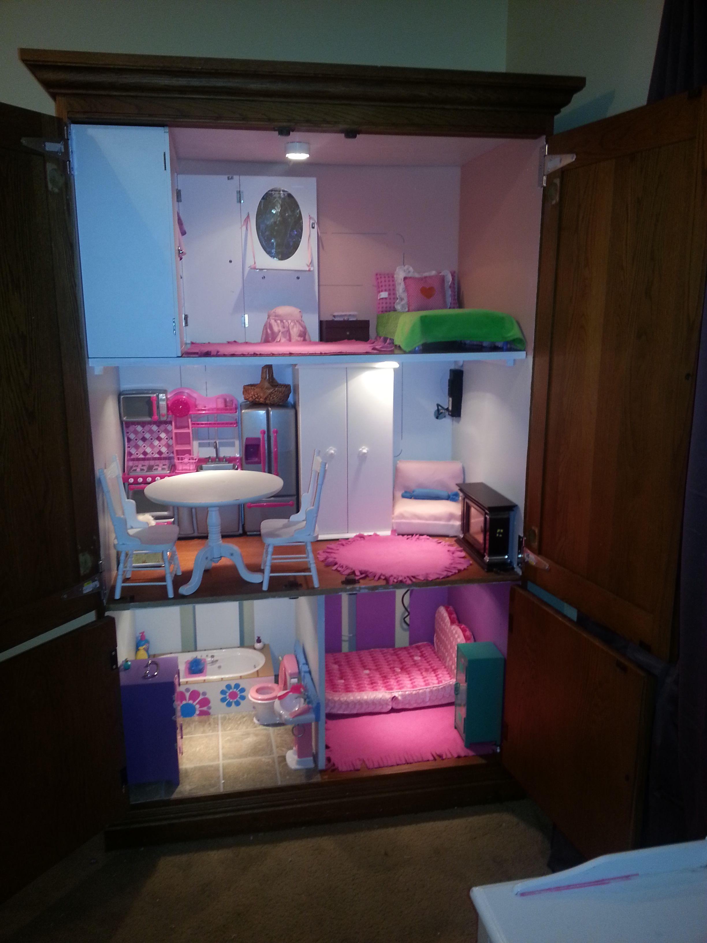 18 inch Doll House TV Armoire Doll House | AG Dollhouse ...