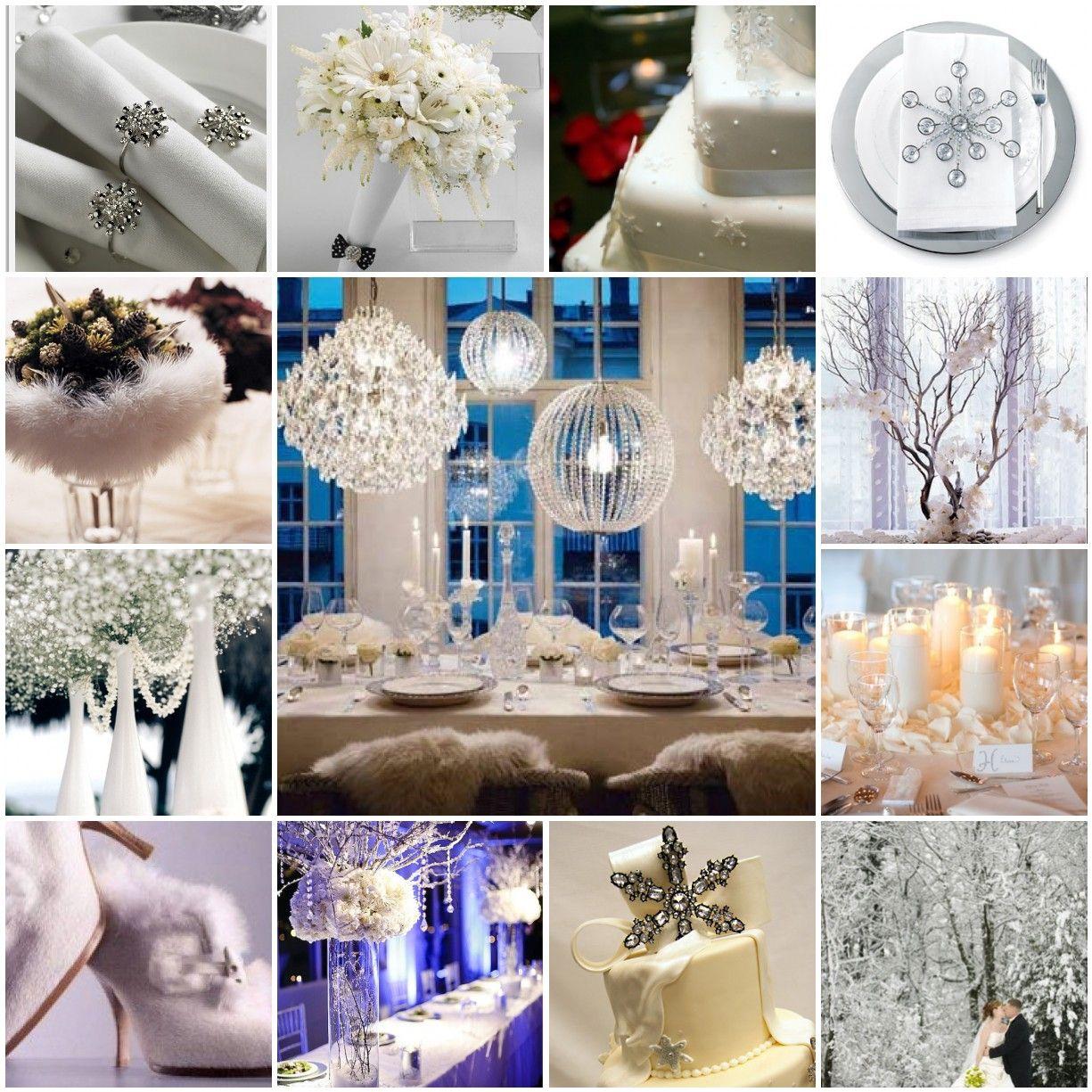 Wedding decoration ideas blue and white  Winter wedding idea  My fairytale  Pinterest  Winter wedding