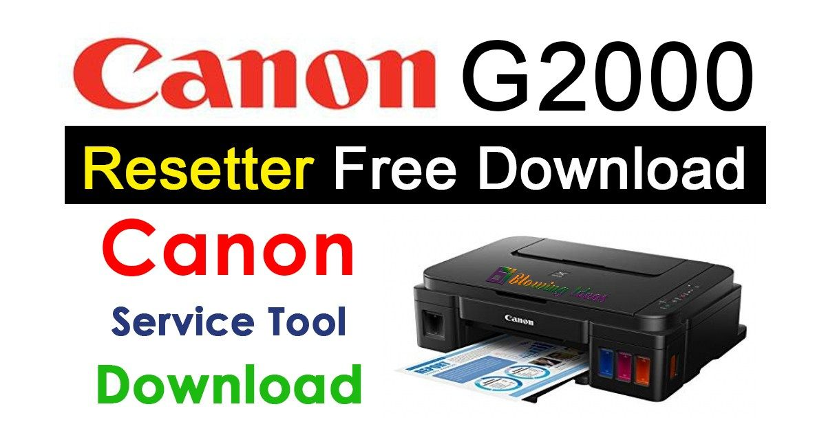 canon g2000 printer resetter software free download