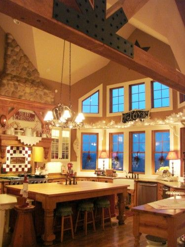 Love the wood beams and EVERYTHING about this kitchen!