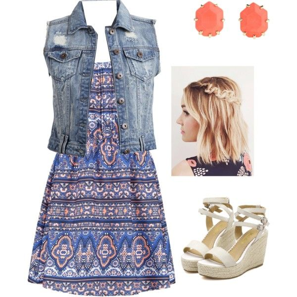 Untitled #4 by emilykg05 on Polyvore featuring polyvore fashion style New Look VILA Kendra Scott
