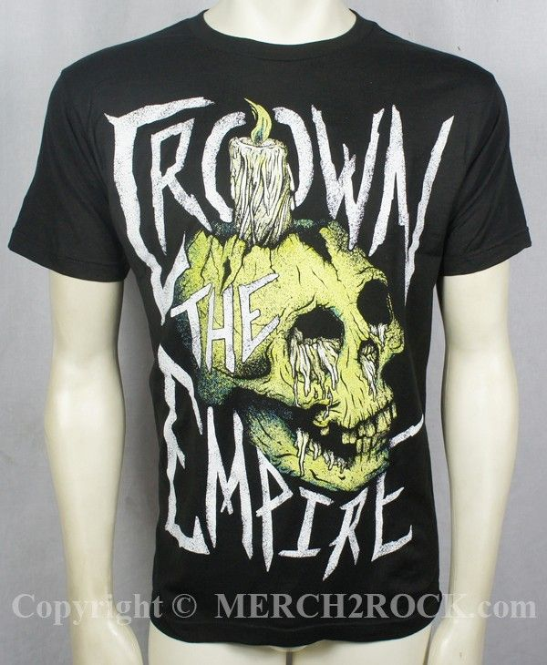 Crown The Empire T Shirt Skull Candle Crown The Empire Shirts Skull Candle