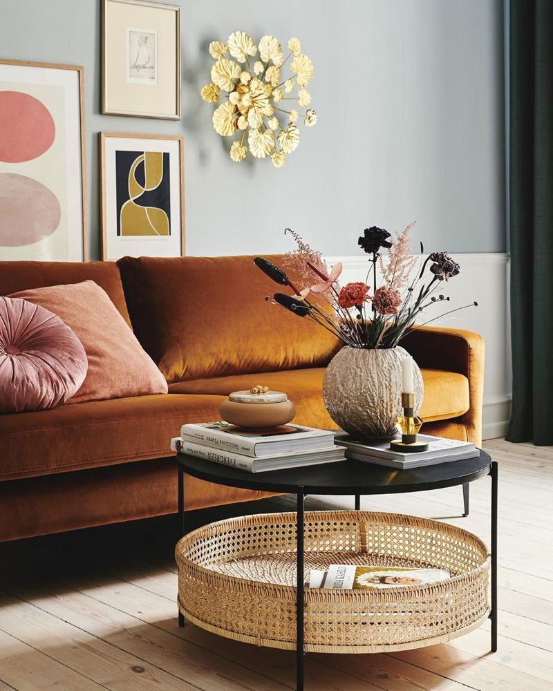 "danish interior design on instagram: ""golden tones | danish"