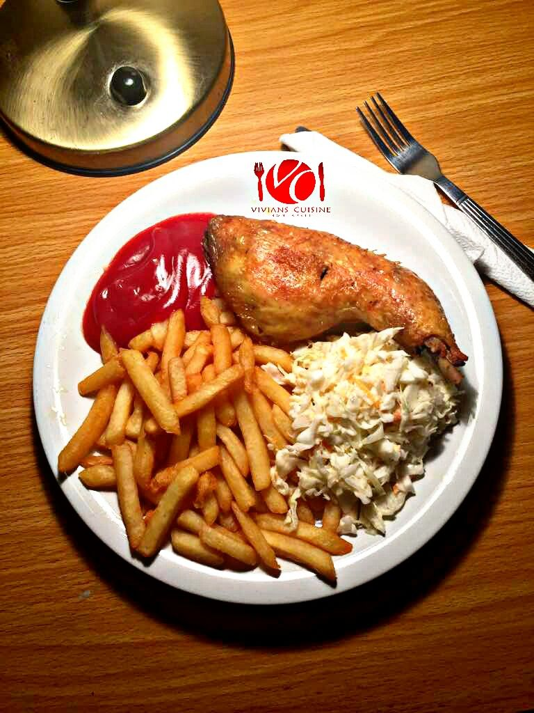 How to make chicken and french fries African food