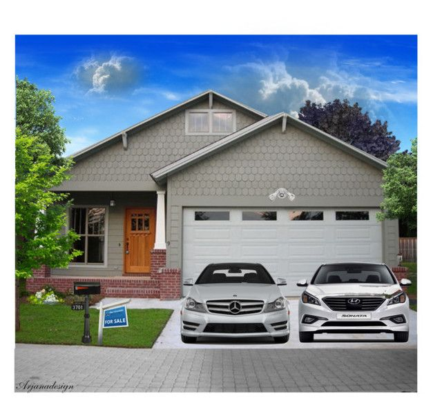 """""""CURB APPEAL"""" by arjanadesign ❤ liked on Polyvore featuring interior, interiors, interior design, home, home decor, interior decorating, GAS Jeans, Mercedes-Benz, Z-Lite and Home"""