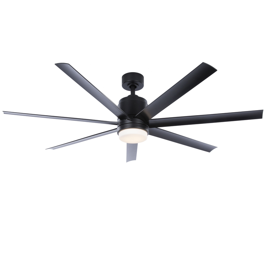 Fanimation Studio Collection Blitz 56 In Matte Black Led Indoor Outdoor Ceiling Fan With Light Kit And Remote 7 Blade Lowes Com Ceiling Fan With Light Outdoor Ceiling Fans Ceiling Fan