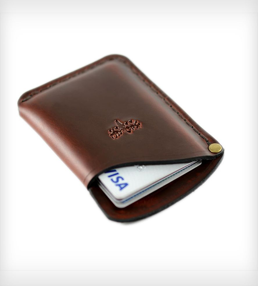 Small Leather Card Holder Wallet | leather works | Pinterest ...
