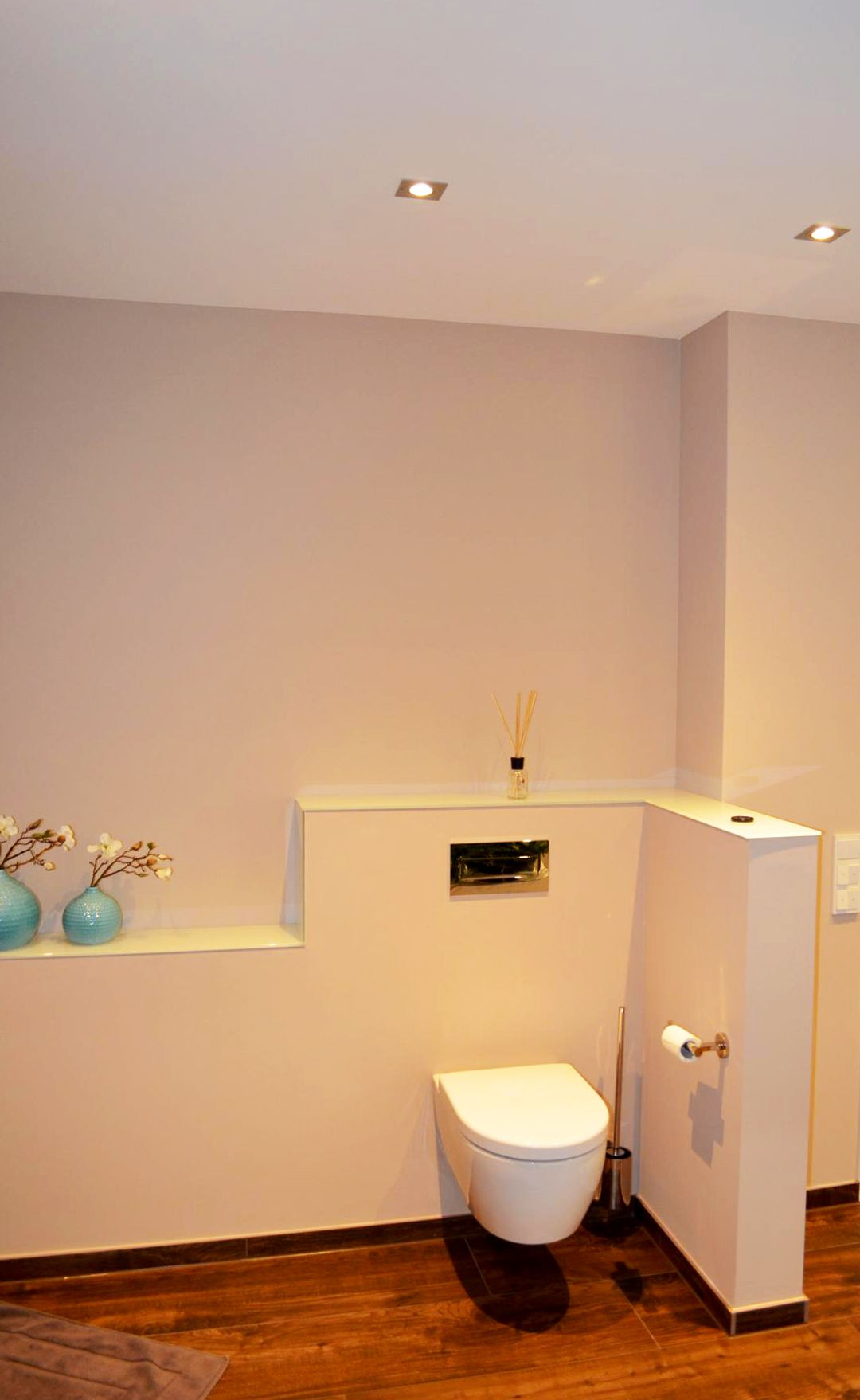 wc hinter vormauerung badezimmer der br ning gmbh in. Black Bedroom Furniture Sets. Home Design Ideas