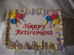 Colorful Balloons Happy Retirement Sheet Cake With Images