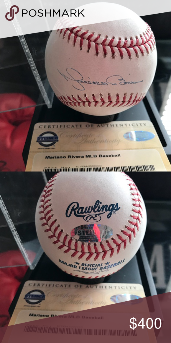 fefefa8f499 Mariano Rivera New York Yankees signed baseball Signed and certified by Steiner  Sports. The greatest closet of all time. Hall of fame first ballot in 2019.