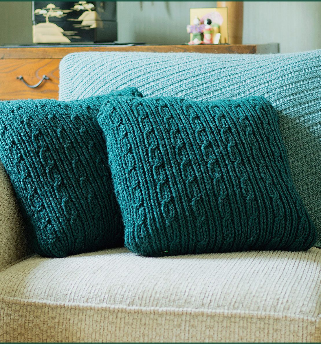 Free until nov 30 2017 knitting pattern for vernwood cushions free until nov 30 2017 knitting pattern for vernwood cushions cushion covers that feature a cabled design which sits neatly embedded into deep textural bankloansurffo Images