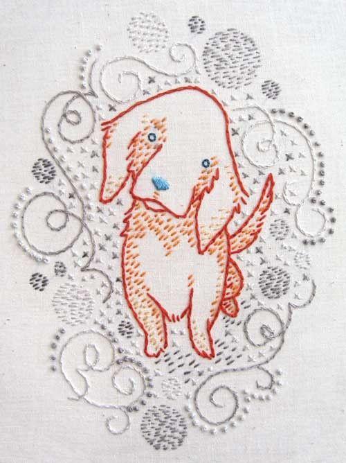 Golden Retriever Embroidery Pattern