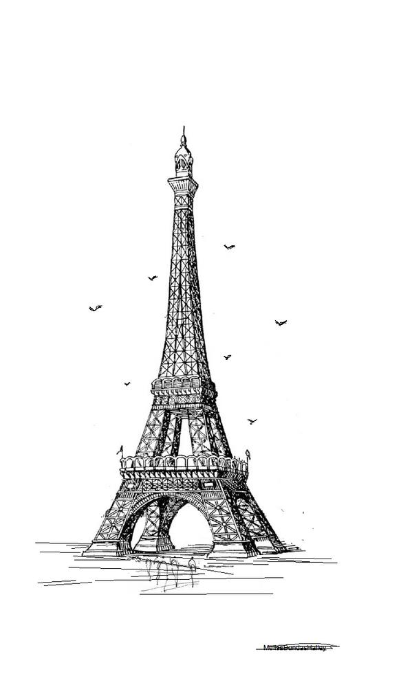 Radiant City Stories Eiffel Tower Mini Art Print By Radiantstories Without Stand 3 X 4 Eiffel Tower Drawing Eiffel Tower Art Eiffel Tower