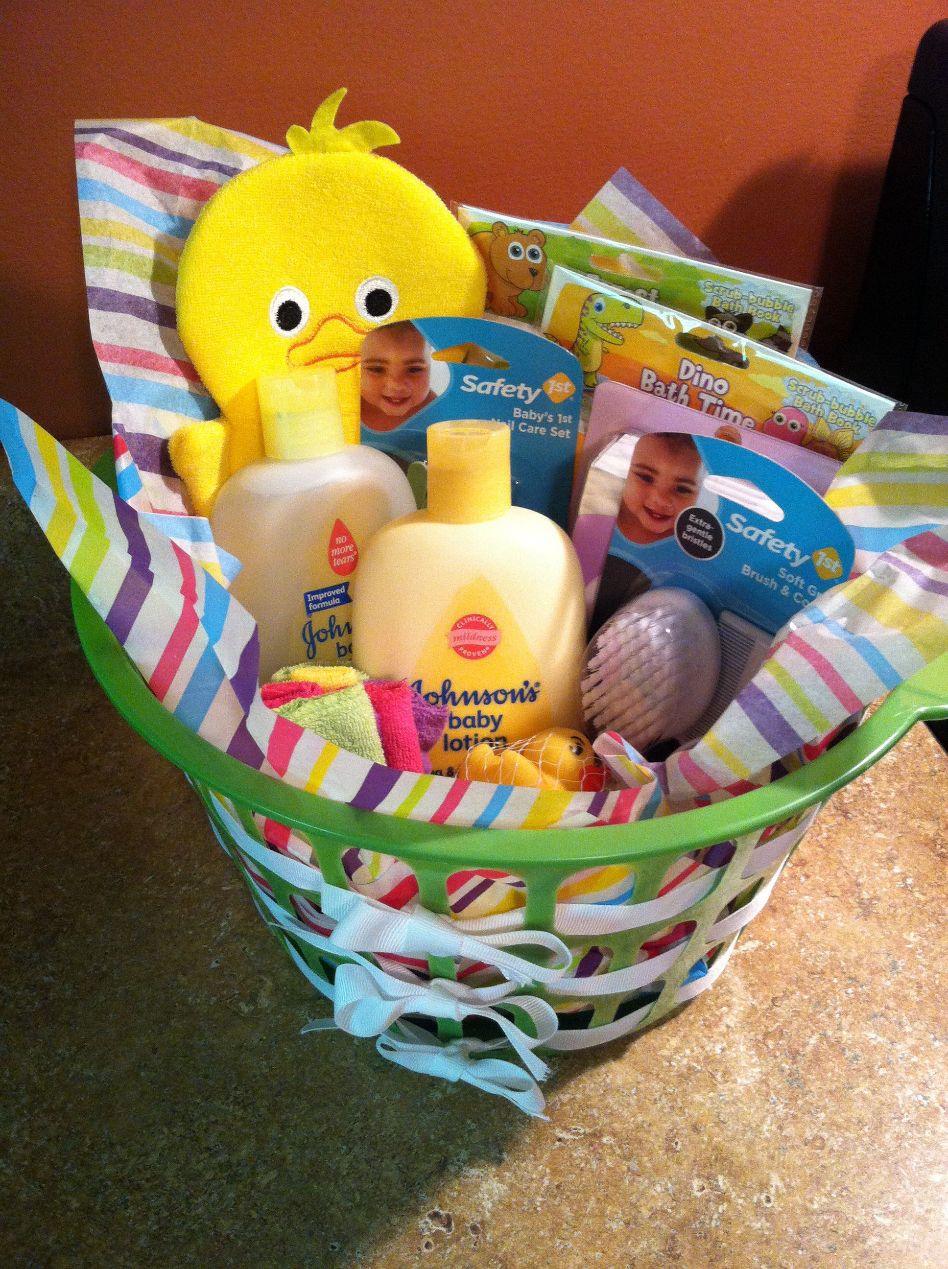 Baby Shower Return Gifts Walmart ~ Inexpensive baby shower gift dollar tree basket with