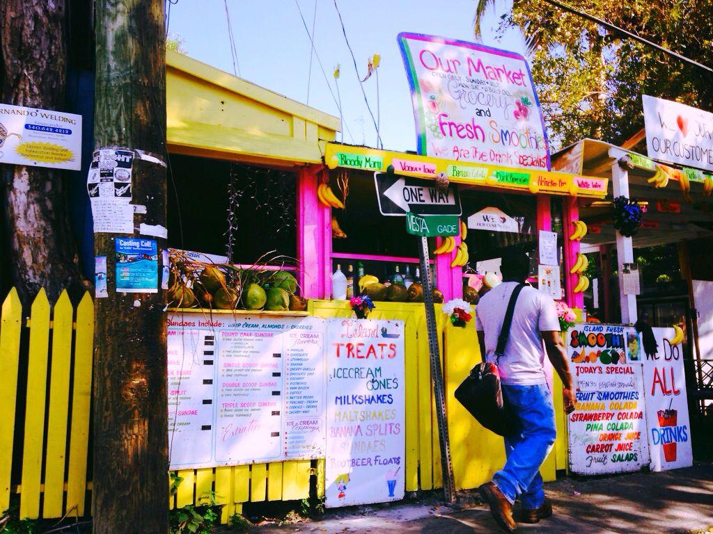 our market smoothies // st. john usvi Cruz Bay