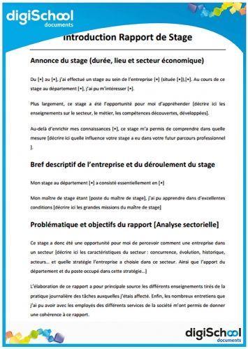 Aperçu De Introduction Rapport De Stage Ca Bossseeeee