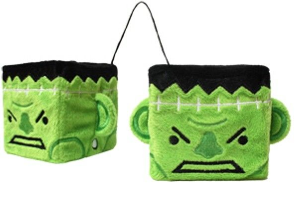 Sourpuss Monster Fuzzy Car Dice