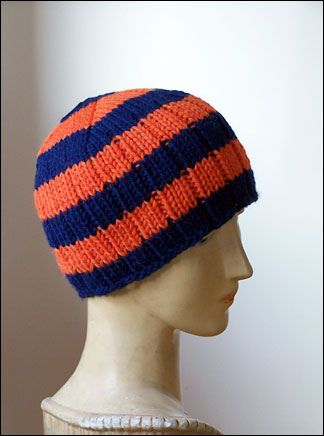 the Player: Free Ribbed Hat Pattern pattern by Bonne Marie Burns