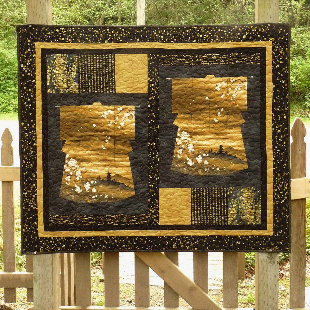 Asian quilt kimona wall hanging quilts art quilts asian inspired