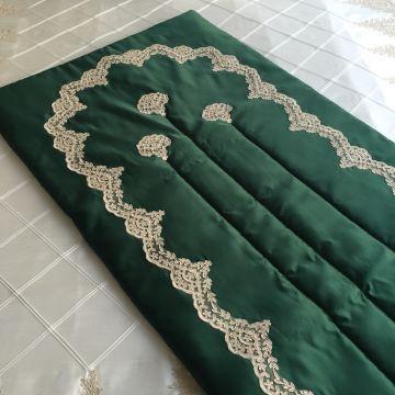 Fransız Dantelli Seccade   Yeşil