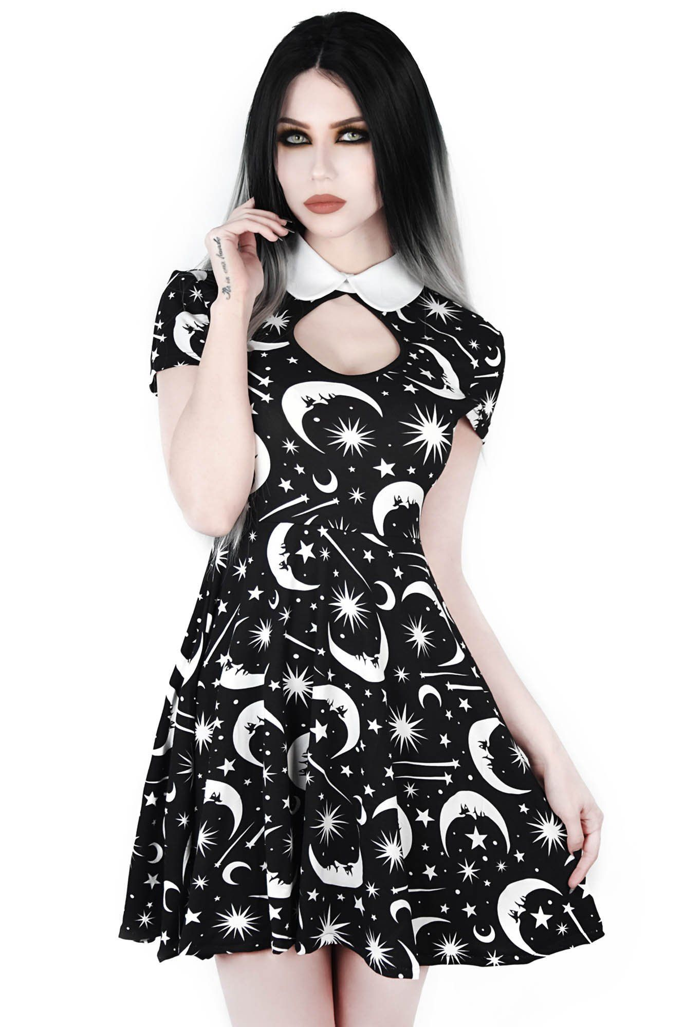 615c1307ac Under The Stars Skater Dress. Be closer to the moon any hour of the  day/night. #KILLSTAR