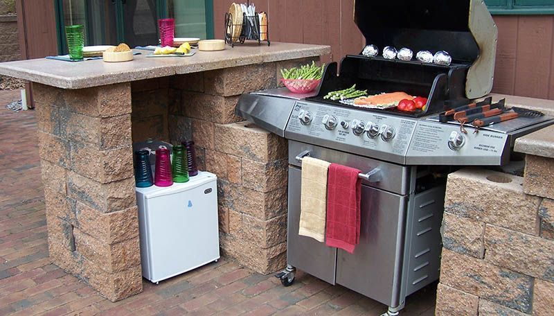 Bbq Grill Outdoor Countertop Bar Outdoor Cooking Bbq