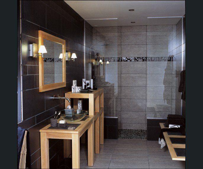 Salle de bains Bois Noir   deco caraibes   Pinterest   Salle de bain ...